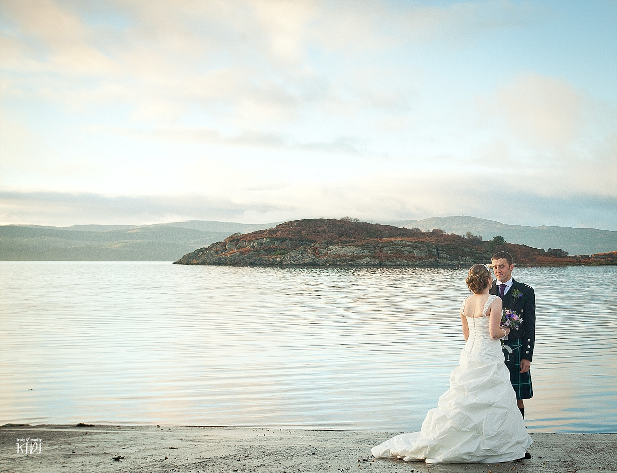wedding photography, Scotland, Argyll, bride and groom,