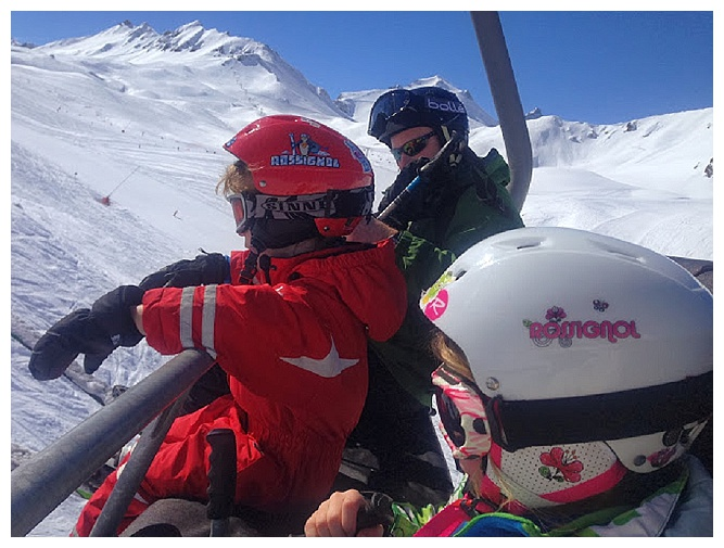 family skiing holiday in val d'isere, kids skiing