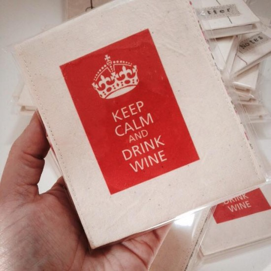 keep calm and drink wine note cover, all by mama