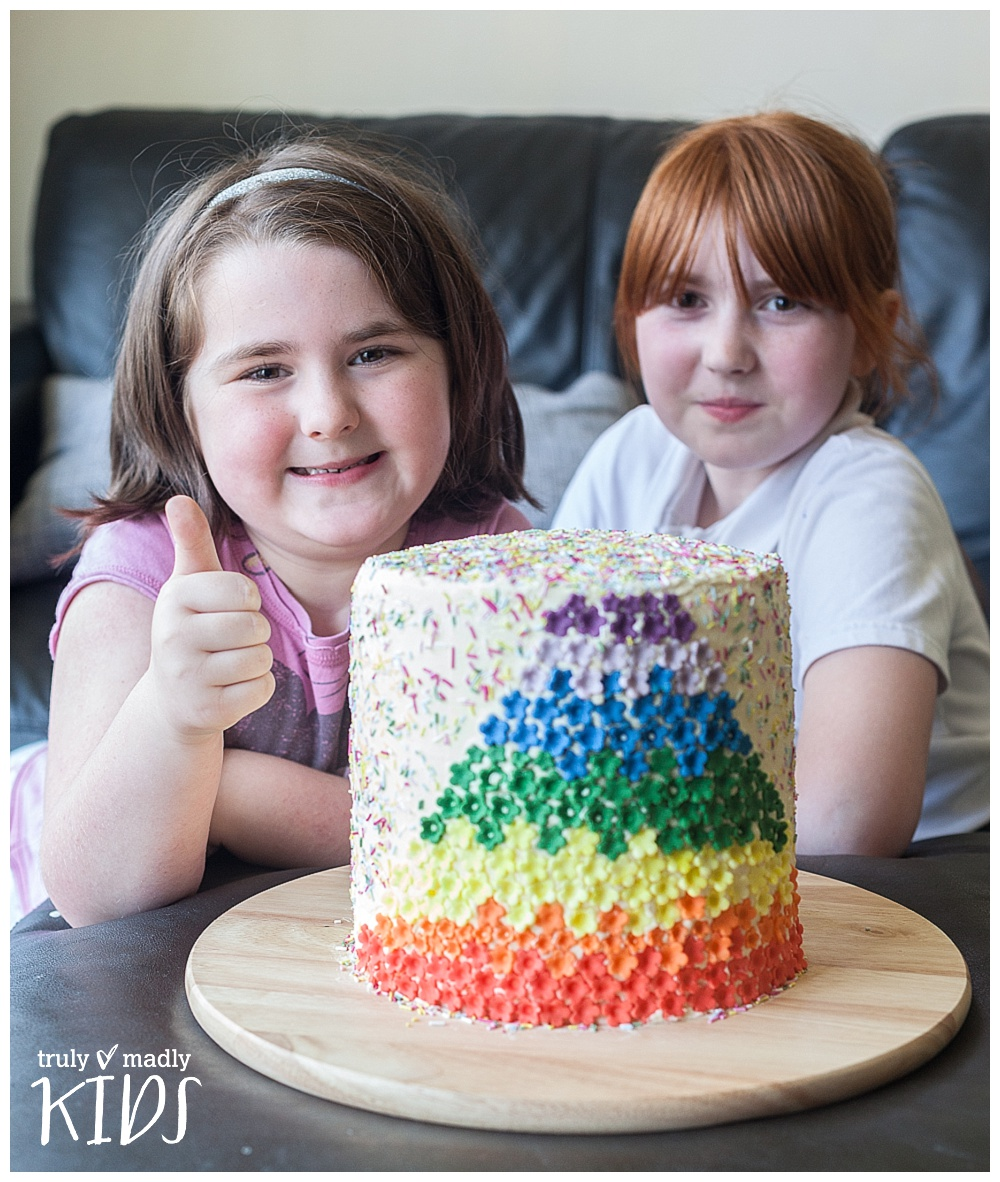 A Happy Rainbow Cake