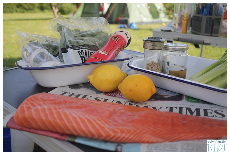 campfire salmon, salmon wrapped in newspaper, camp fire recipes. salmon recipes