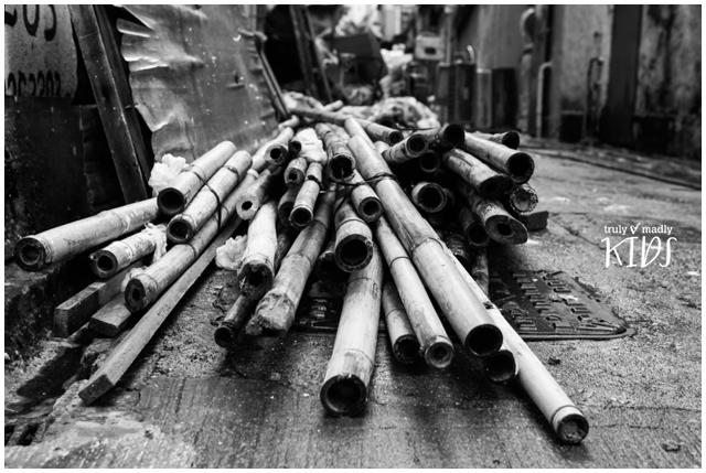 Bamboo poles, Hong Kong