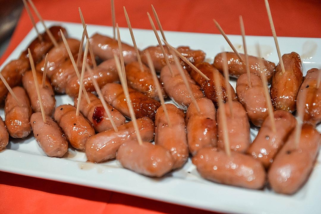 Glazed sausages