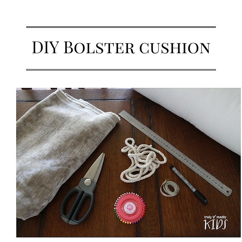 MAKE YOUR OWN BOLSTER CUSHION, bolster ciushion, winter craft,