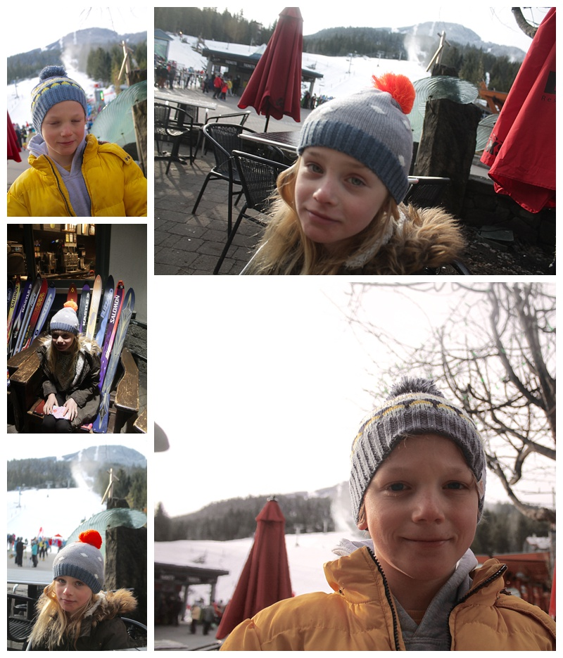 lala and bea hats, skiing in whistler with kids, kids ski wear, family ski trip to whistler