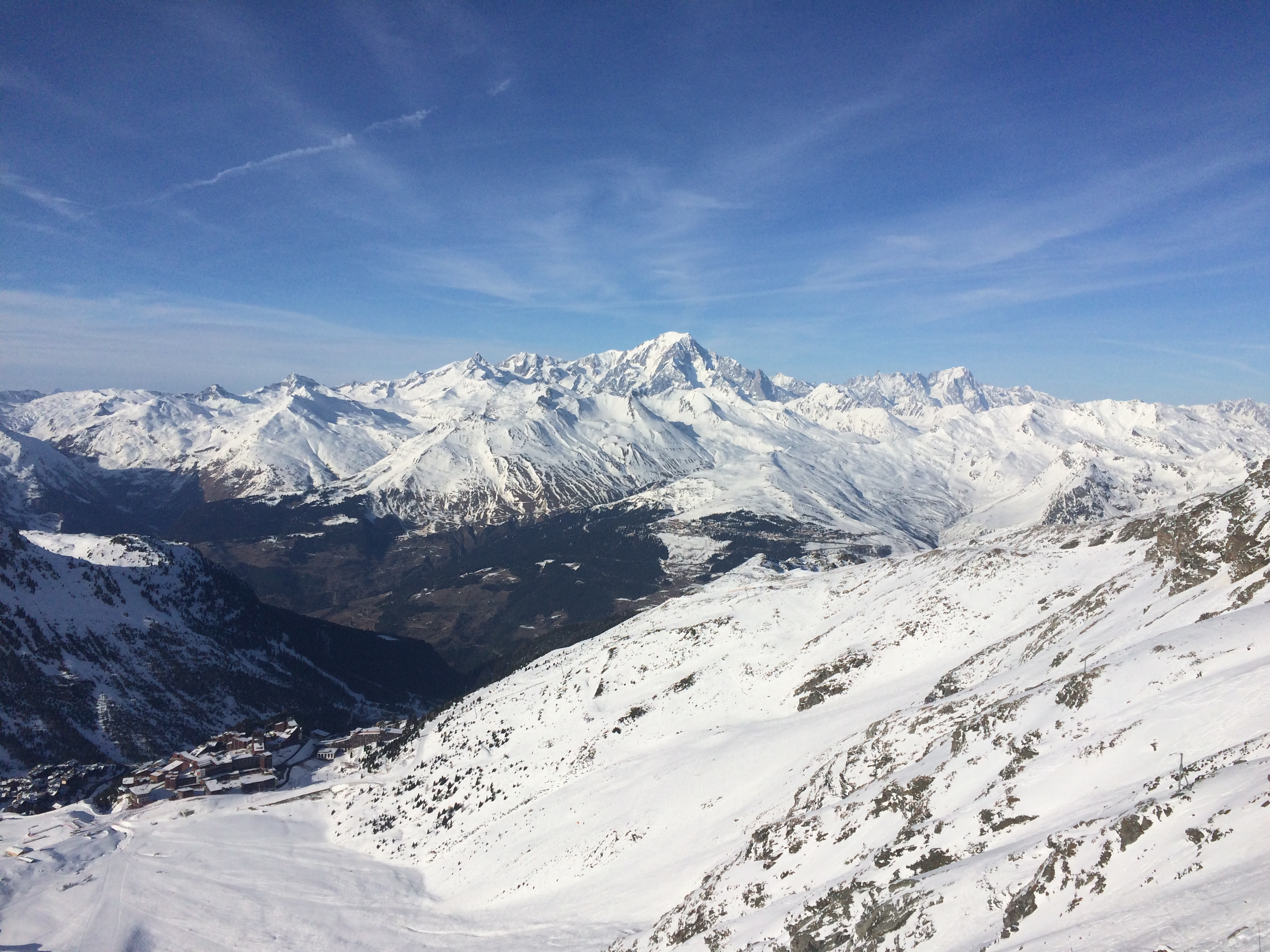 mont blanc from les arcs,