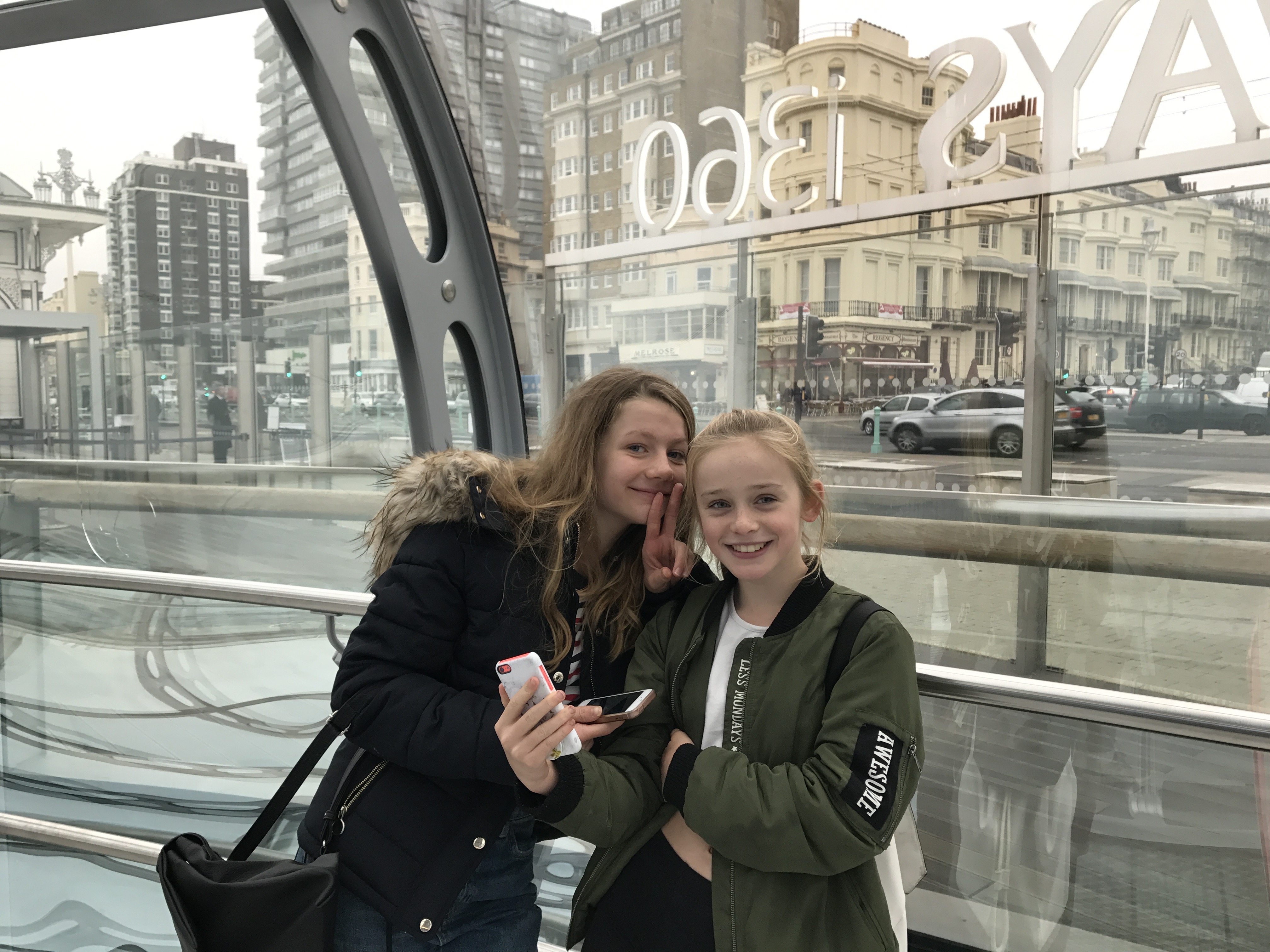 why kids love Brighton, Brighton, i360, kids on i360