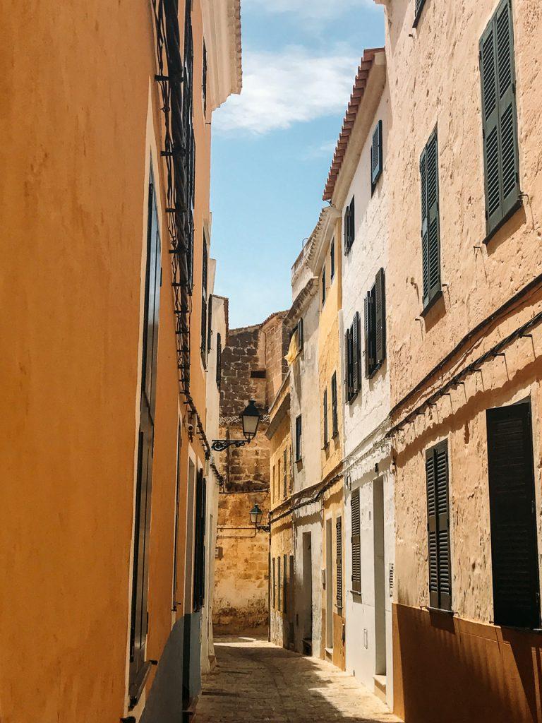 old town streets Cala Galdana Menorca