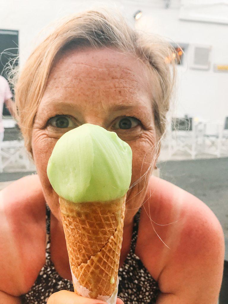 Lemon mint gelato Menorca