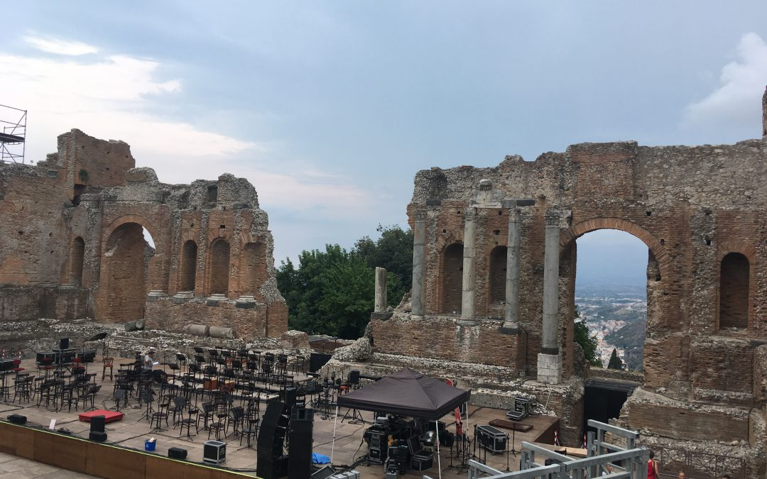Visiting The Ancient Theatre of Taormina with kids