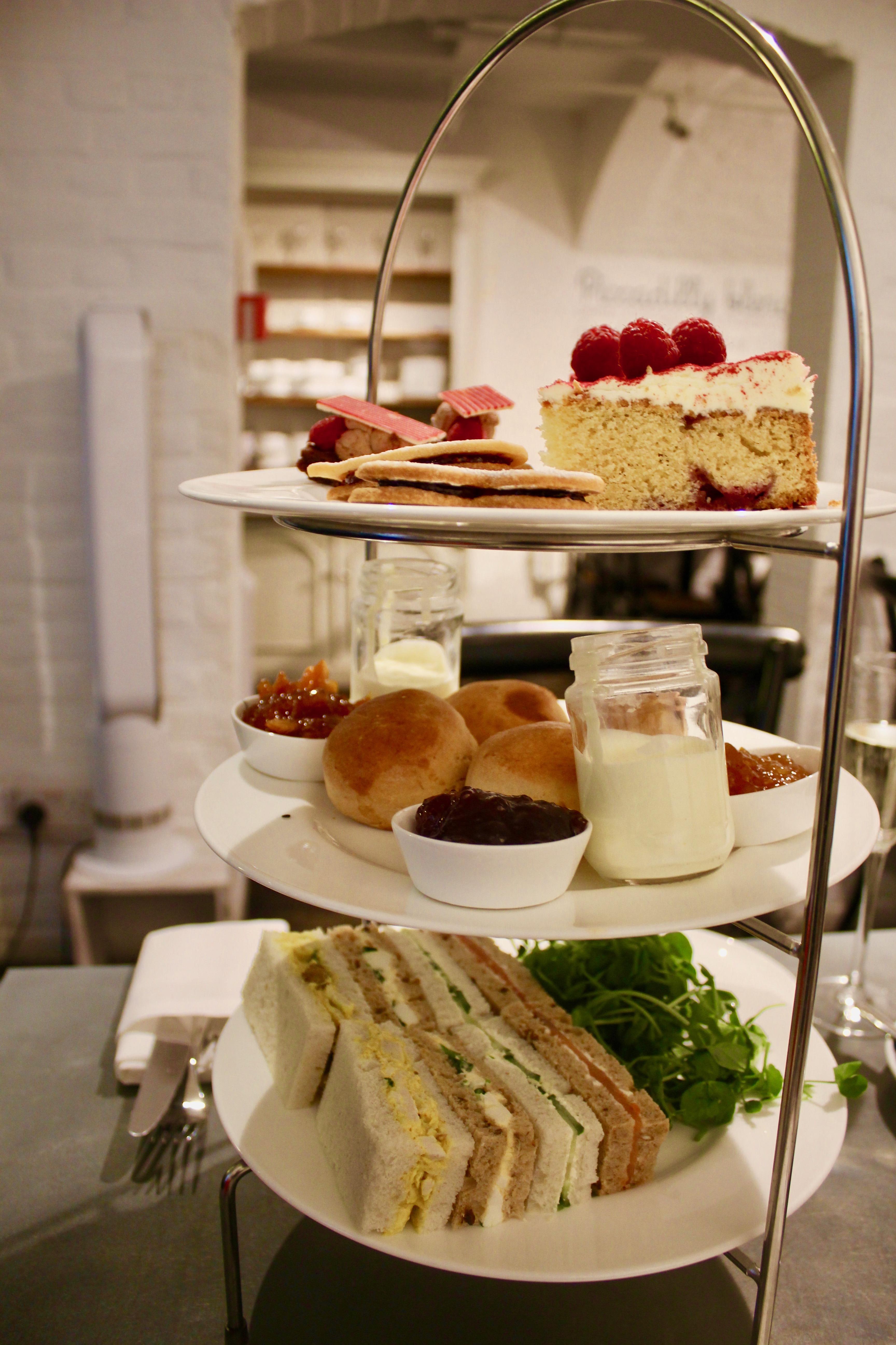 Afternoon tea at Whittard's Tea, whittards tea bar Covent Garden
